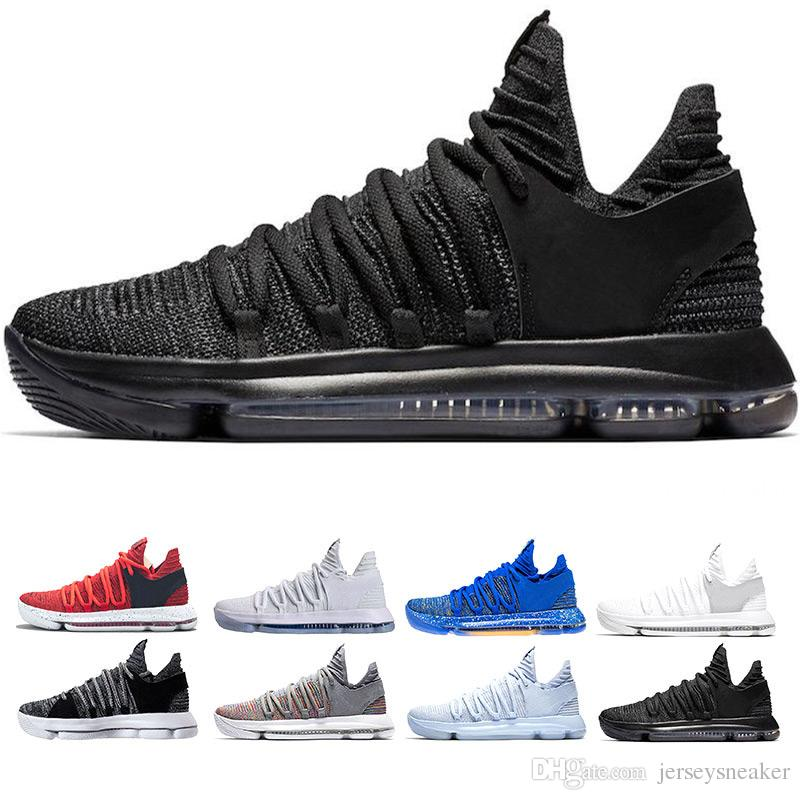 New Zoom KD 10 Anniversary University Red Still Kd Igloo BHM Oreo Men Basketball Shoes USA Kevin Durant Elite KD10 Sport Sneakers KDX