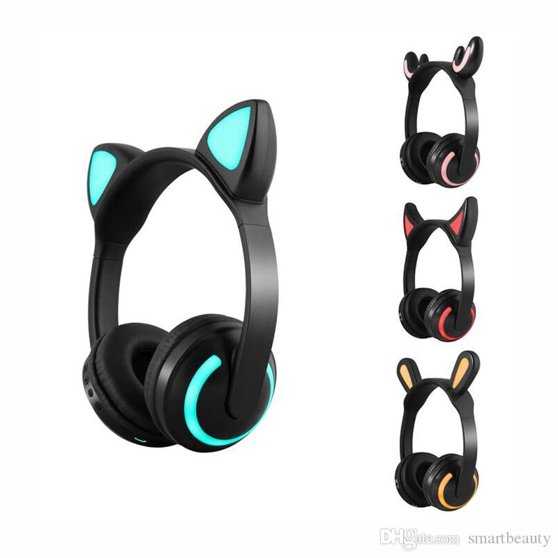Cat Ear Wireless Bluetooth Headset Glowing Cat Ear Earphones Stereo Music Headphones Hands Free With Mic Ful Light Headset For Cell Phones Wireless Cell Phone Headphones From Smartbeauty 13 1 Dhgate Com