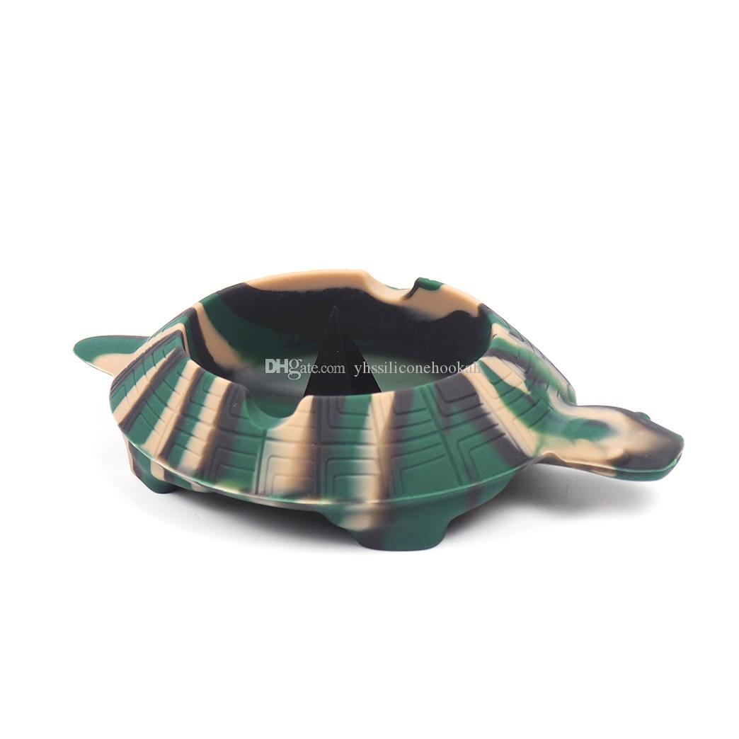 funny Turtle Colorful Friendly Heat-resistant Silicone Ashtray for Home pocket ashtrays for cigarettes cool gadgets ash tray