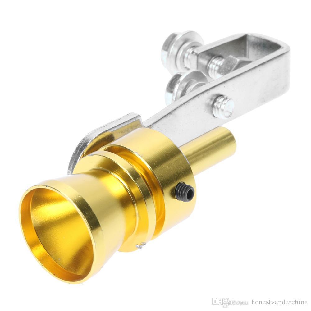 fischietto per tubo di scarico della coda turbo suono in lega di alluminio argento TC-M Fischio dargento in lega di alluminio