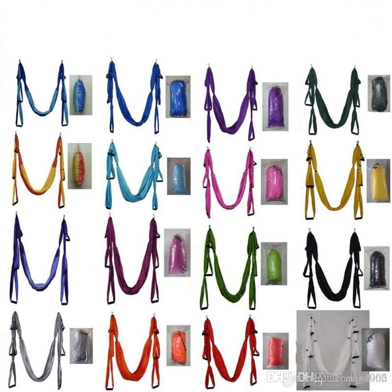 Colorful Anti Gravity Hammocks Air Flying Yoga Hammock High Density Nylon Taffeta Fitness Swing Top Quality 75 5sh BB