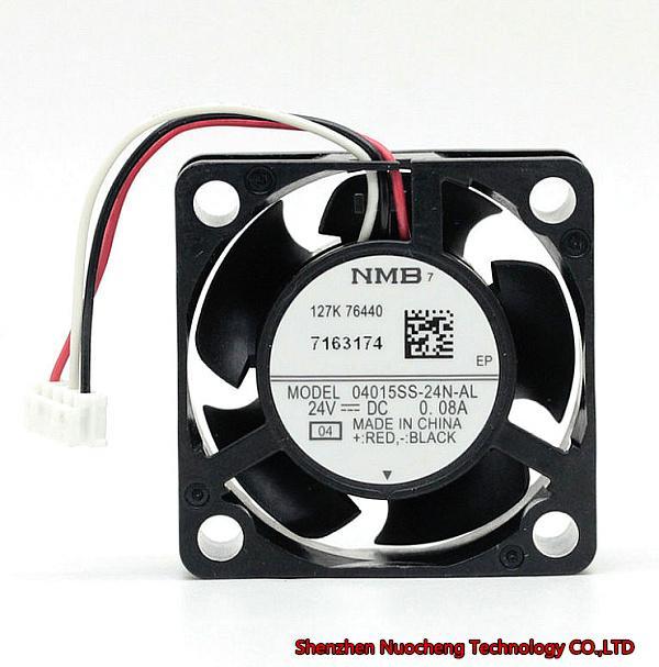 Original 40 * 40 * 15mm 4 cm ventilador da impressora 04015SS-24N-AL 24V 0.08A 3 fios ~