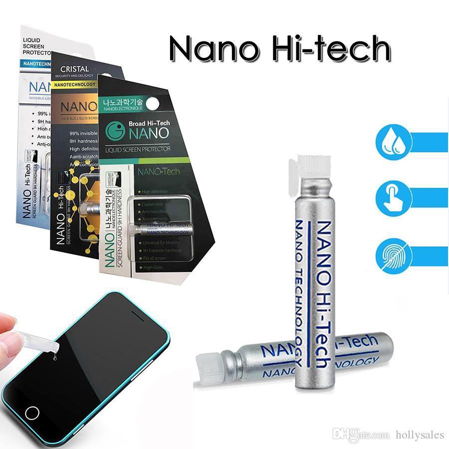 1ML السائل نانو مرحبا التكنولوجيا حامي الشاشة 3d منحني حافة المضادة للخدش شاشة الحرس كامل الجسم حامي المحمول لفون × سامسونج s9