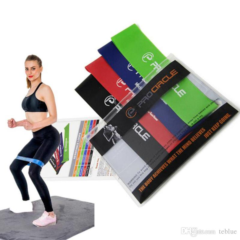 4 Level Loop Resistance Bands Fitness Band for Exercise Gym Strength Training US