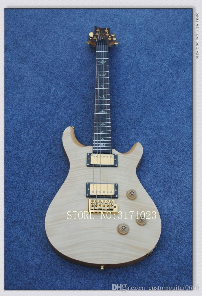 Custom Natural 24 birds inlay fret board Electric Guitar Free Shipping