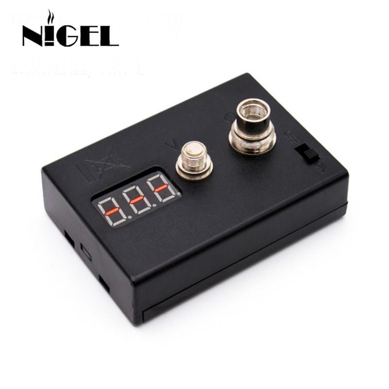 Nigel LED probador de resistencia ohmios medidor de ohmios lector para calefacción bobina de alambre DIY Vape herramienta E cigarrillo 510 RDA vaporizador atomizador