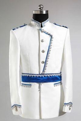 Die weiße mittelalterliche Jackensilberbindung der freien Verschiffenmänner mit blauem wasit Bandweinlese-Zeitraumkostüm / dieses ist nur Jacke