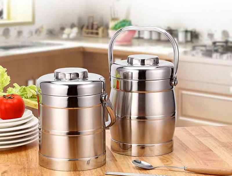 Vacuum Double Wall Stainless Steel Insulated Lunch Bento Box Portable China Japan Style Food Container For Kids Adult Student 8