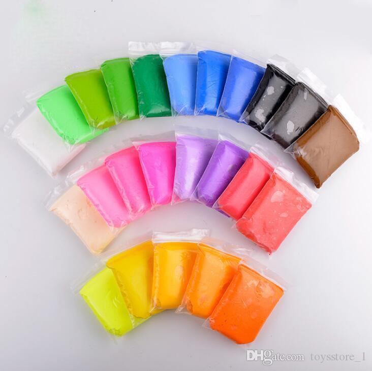 Pearl Neve Fango Fluffy Slime Stress Relief giocattoli per bambini Floam Slime mano pizzico di gomma fango 20g / borse 24colours misti