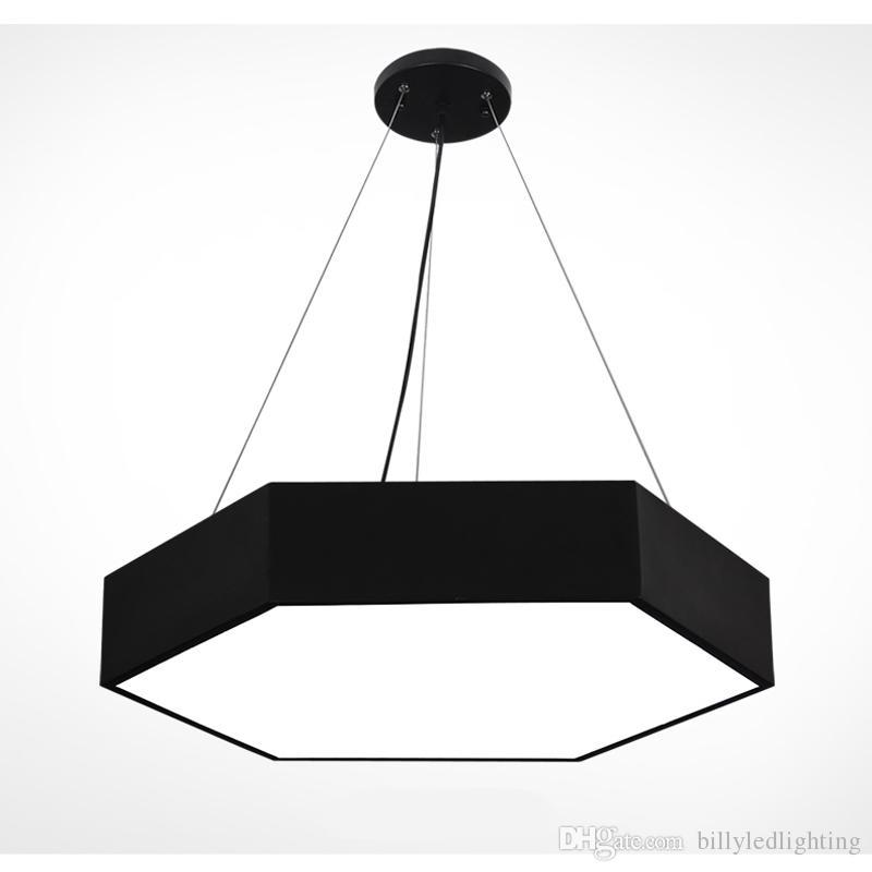 Hexagon led pendant lamps Black White Ceiling Hanging Lamp For living room restaurant Home lighting AC 85-265 Volts