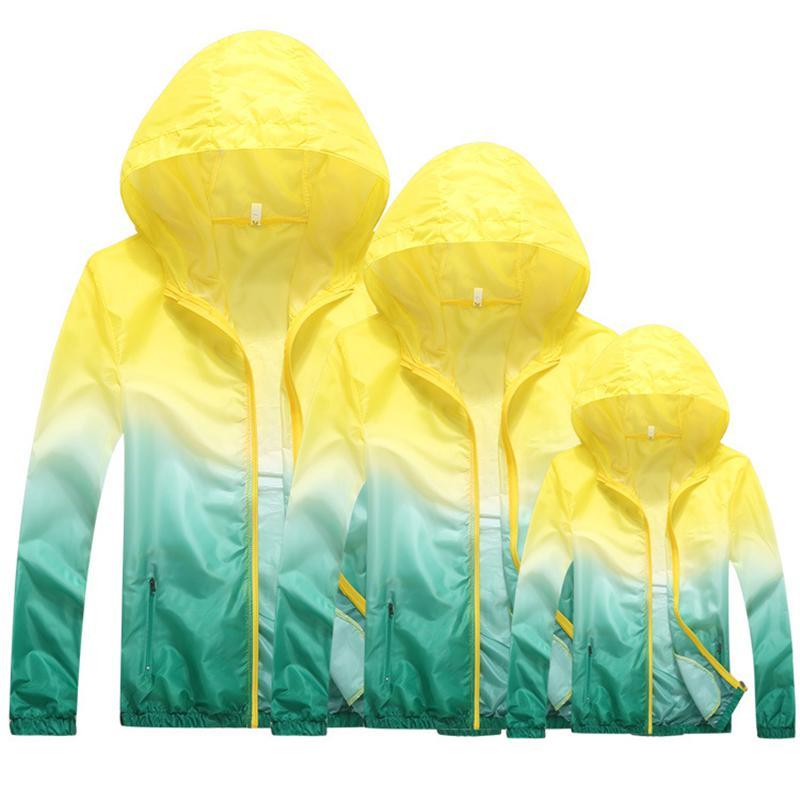Großhandel LISM One Piece Farbverlauf Drucken Laufen Jacken Für Frauen Männer Dünne Haut Sportjacke Mit Kapuze Cardigan Quick Dry Sonnenschutz Von