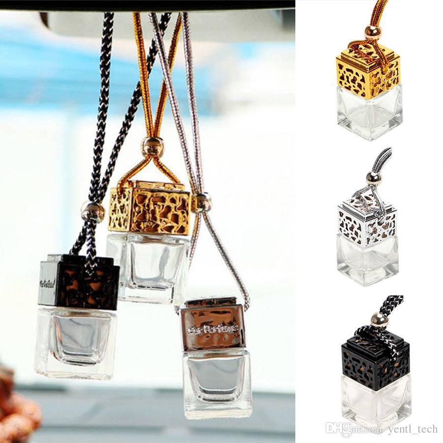 Freies verschiffen yentl Leere Glasflasche Für Diffusor Rückspiegel Ornament Auto Hängen Parfüm Ornament Auto Hängen Parfüm