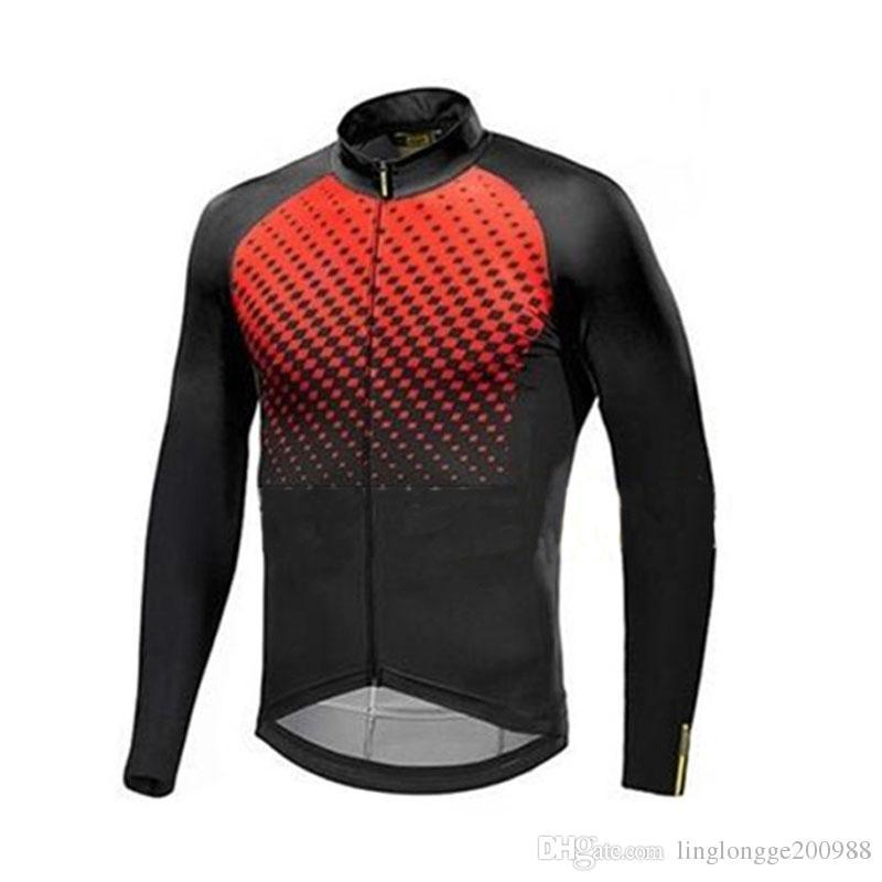 Pro Team 2019 Nouveau Vélo Jersey Printemps À Manches Longues Vélo Vêtements Hommes Vêtements De Vélo Uniformes De Ropa Ciclismo Hombre