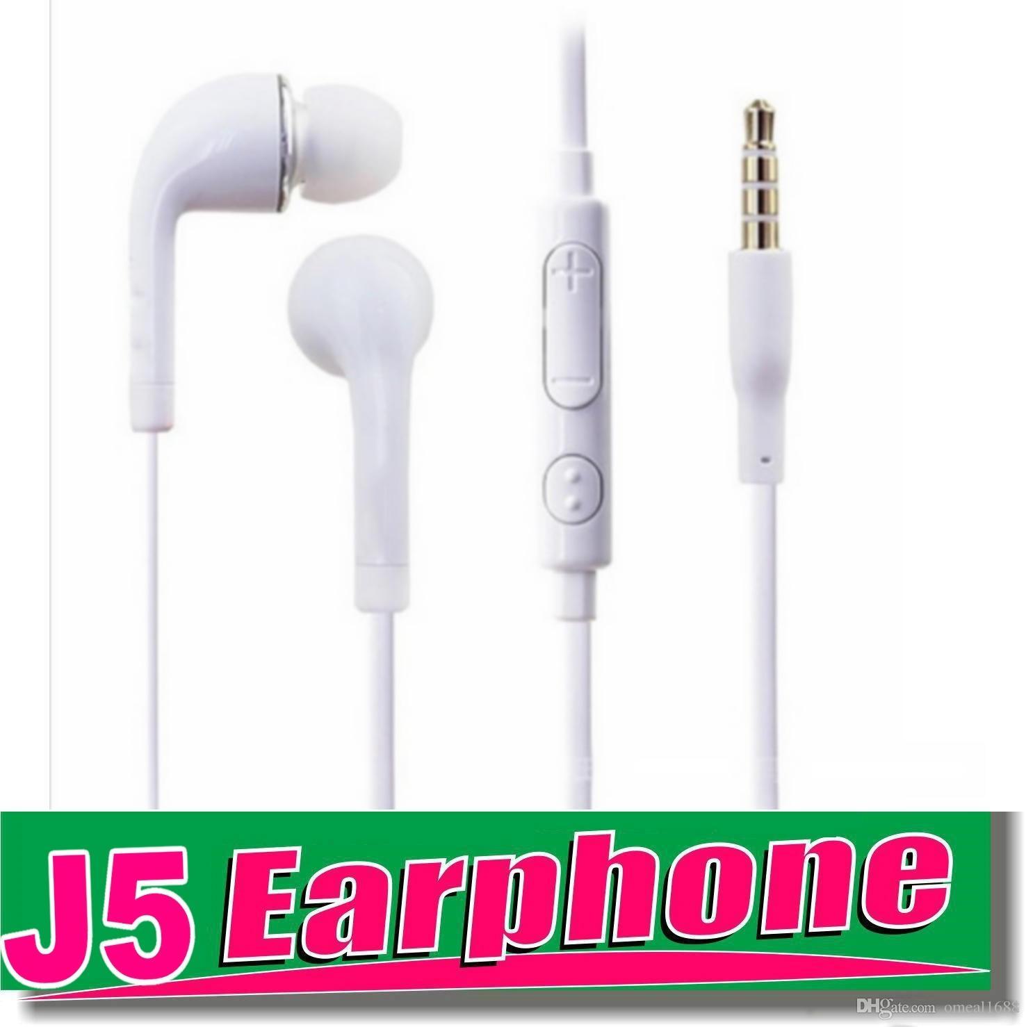 بالنسبة إلى Samsung S6 سماعة أذن OEM ستيريو بحجم 3.5 ملم متشابكة مع ميكروفون ومفتاح صوت للهاتف الذكي OM-T7