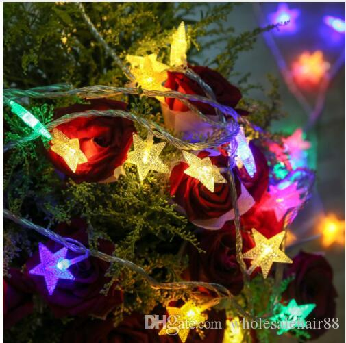 New 10M 100LED star string Fairy Lights for wedding decorations Home outdoor christmas tree decorations christmas lights indoor