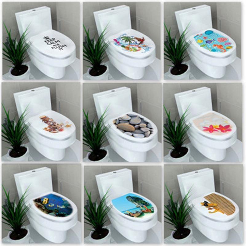 HELLOYOUNG 32*39cm sticker WC cover toilet pedestal toilets stool toilet lid sticker WC home decoration bathroom Accessories
