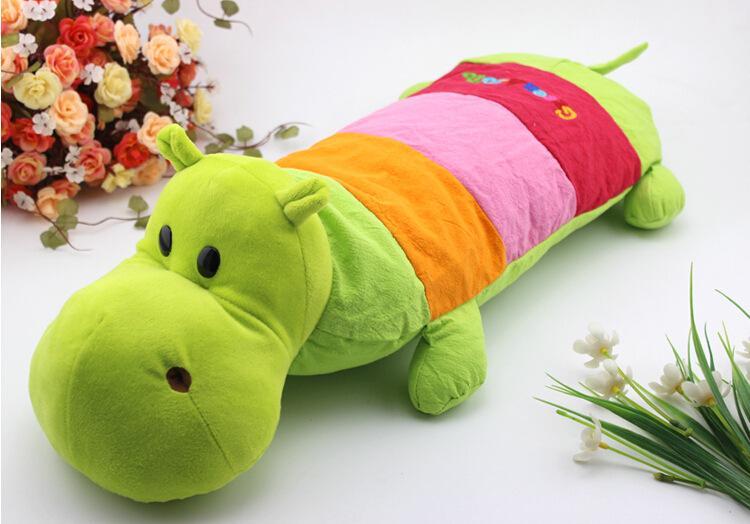 Children's Cartoon Baby Hippo Buckwheat Pillow Baby Child Cotton Pillowcases Finalize The Design Pillow