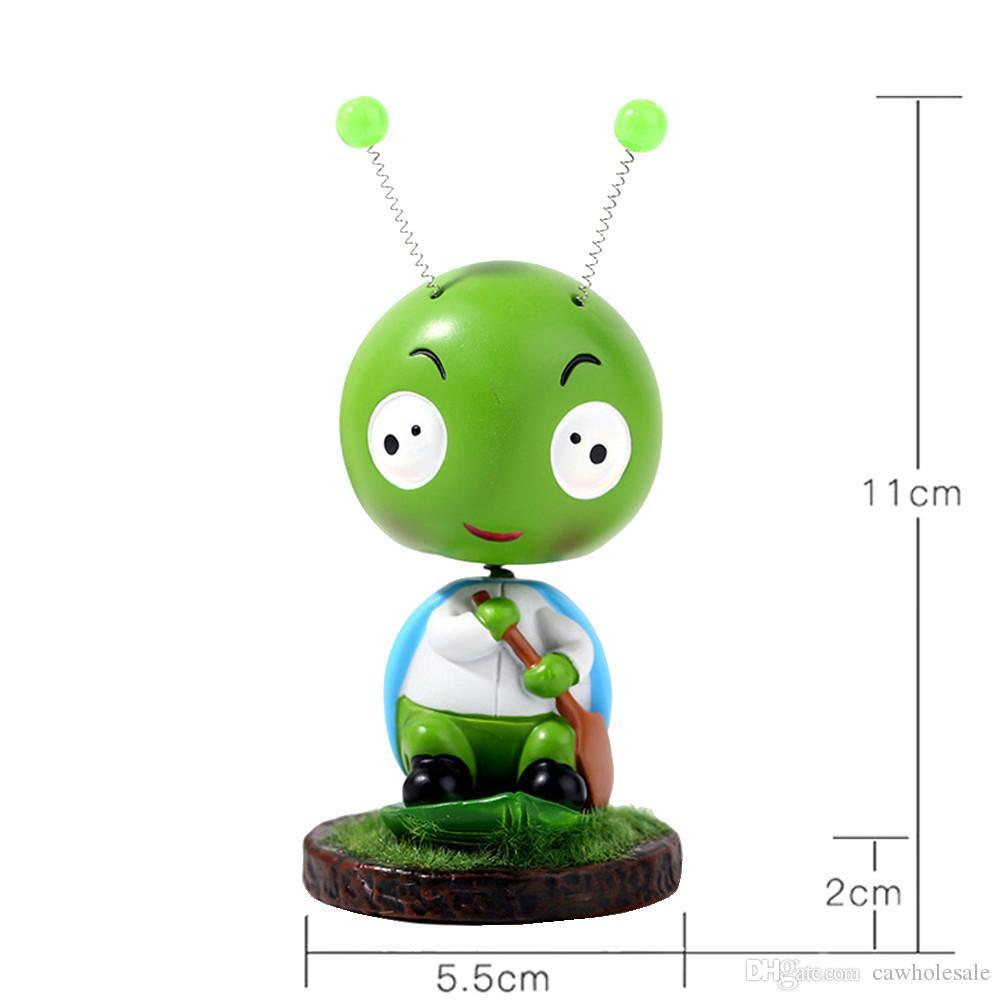 1 Creative Home Décoration Mignonnes Poupées Coccinelle Poupée Cartoon Cute Things --- Green Ladybug-- décoration d'intérieur de voiture
