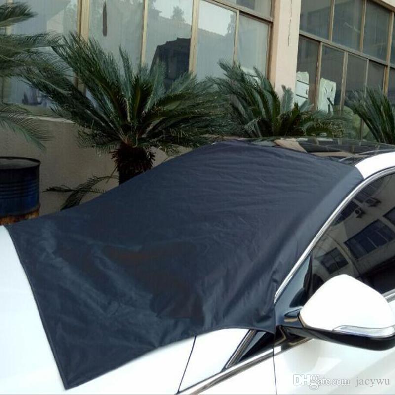 Impermeabile parabrezza Car Cover Auto Sun-ombreggiatura della finestra anteriore Sun-ombreggiatura Ombra Neve copertura parasole panno Esterno Accessori QP001
