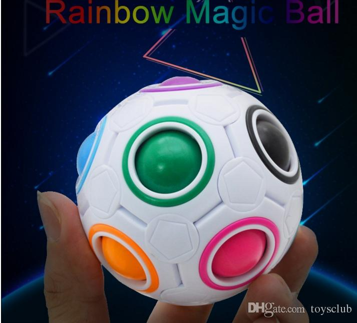 500pcs Rainbow Ball Magic Cube Speed Football Fun Creative Spherical Puzzles Kids Educational Learning Toys games for Children Gifts