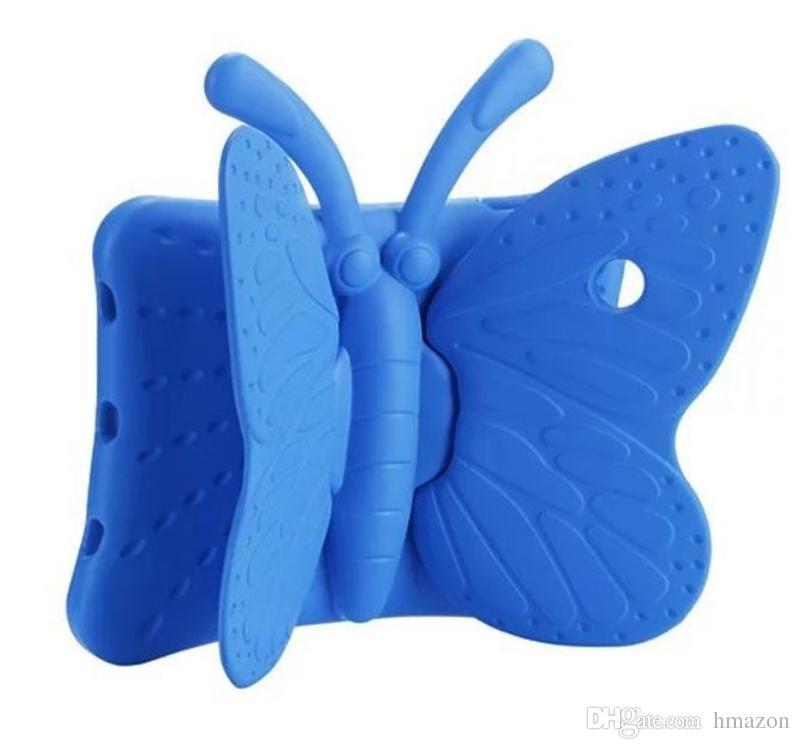 pour iPad mini 123 2 3 4 5 6 Air 2 nouveau 9.7 Onglet t210 t110 p3200 3D Papillon Enfants Etui Sûr Mousse Anti-Chocs EVA Étui Mignon Couverture de Poignée Stand