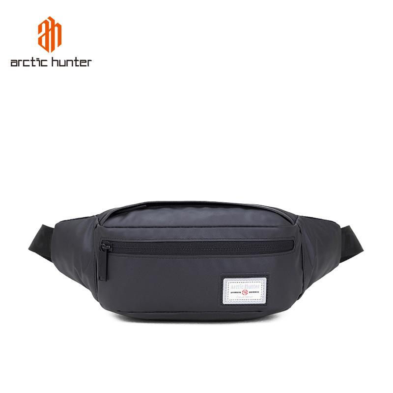 New Men Women Waist Pack with high density oxford waterproof fabric Chest Bag Crossbody Bags Small Black Shoulder Packs