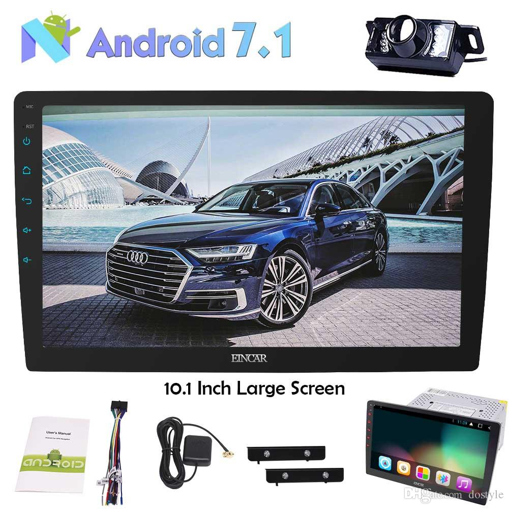 10.1'' Android 7.1 Octa Core 2G+32G Car Stereo In Dash GPS Radio Player Bluetooth AM/FM Subwoofer OBD2 TPMS Wifi+Reverse Camera
