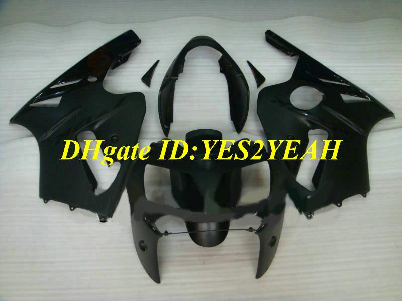 Injectie Mold Fairing Kit voor Kawasaki Ninja ZX12R 02 03 04 05 ZX-12R ZX 12R 2002 2003 2004 Flat Black Backings Set