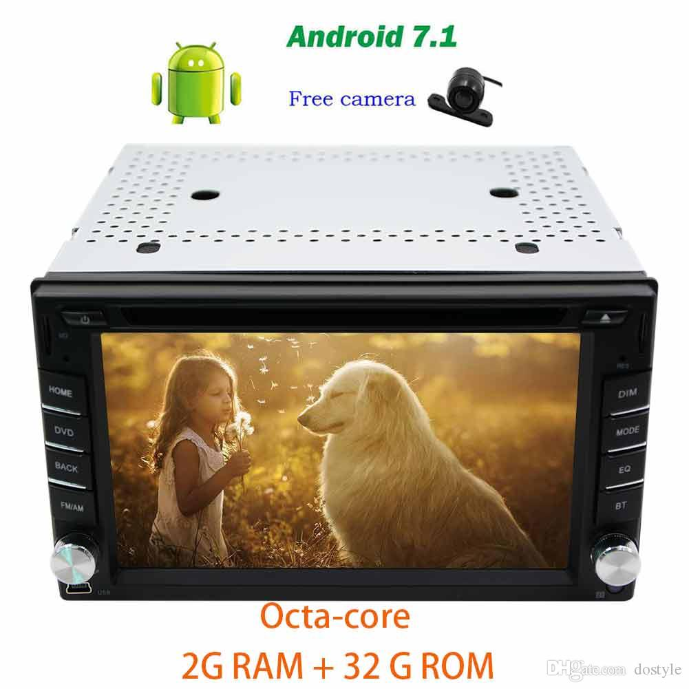 Backup camera+Android 7.1 Octa-core Car Headunit 6.2'' on-board computer car dvd Autoradio dvd player in dash Bluetooth GPS Navigation Wifi
