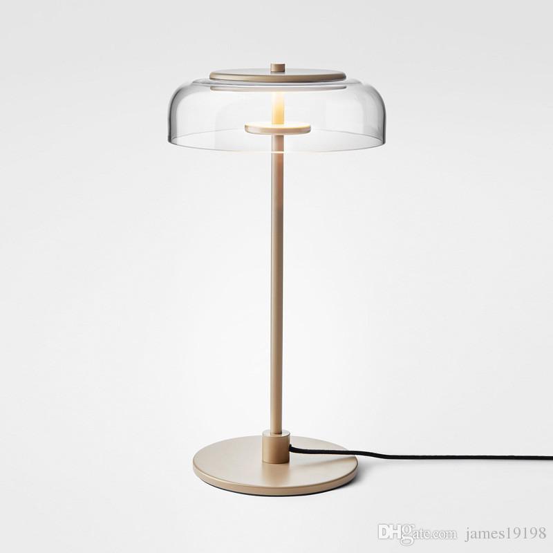 Modern Glass LED Table Lamp Gold Desk Lamp Home Bedroom Bedside Living Room Decor Fixture TA050