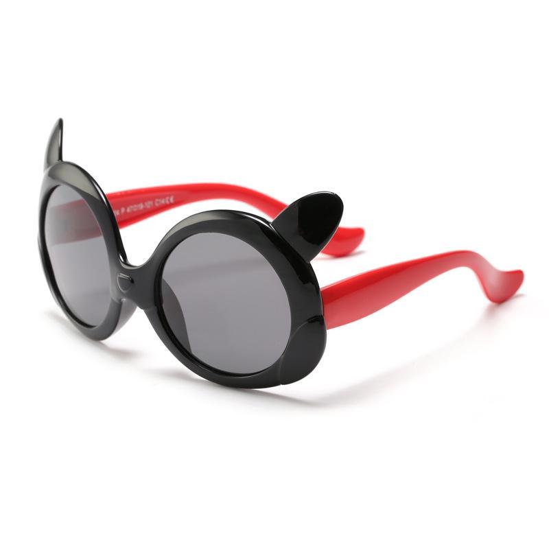 Polarized Children's Sunglasses 2018 Cute and Fashion Cartoon Kids Sun Glasses Silicone Material Uv Protected Glass