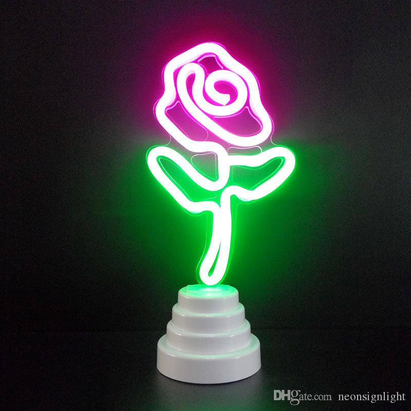 OHANEE maßgefertigten Rosen-Blumen-LED Neon Rohr-Zeichen-Licht zu Hause Schlafzimmer Hochzeit Festivaldekoration Arts Crafts Geburtstag Geschenke Beleuchtung