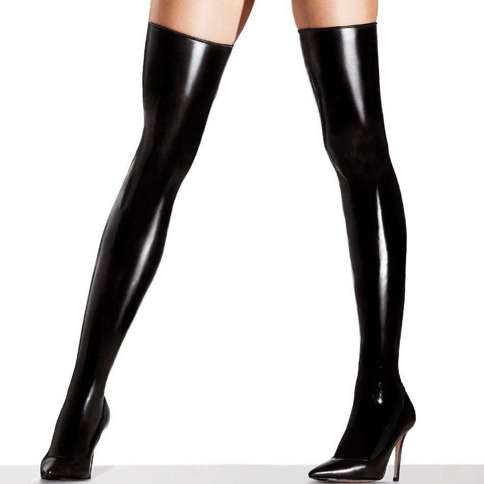 Latex Unisex Socks Rubber Stockings Shiny Clothing