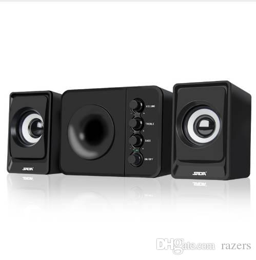 SADA D-205 2.1 Computer Speaker with Subwoofer - Best for Music, Movies, Multimedia PC and Gaming Systems