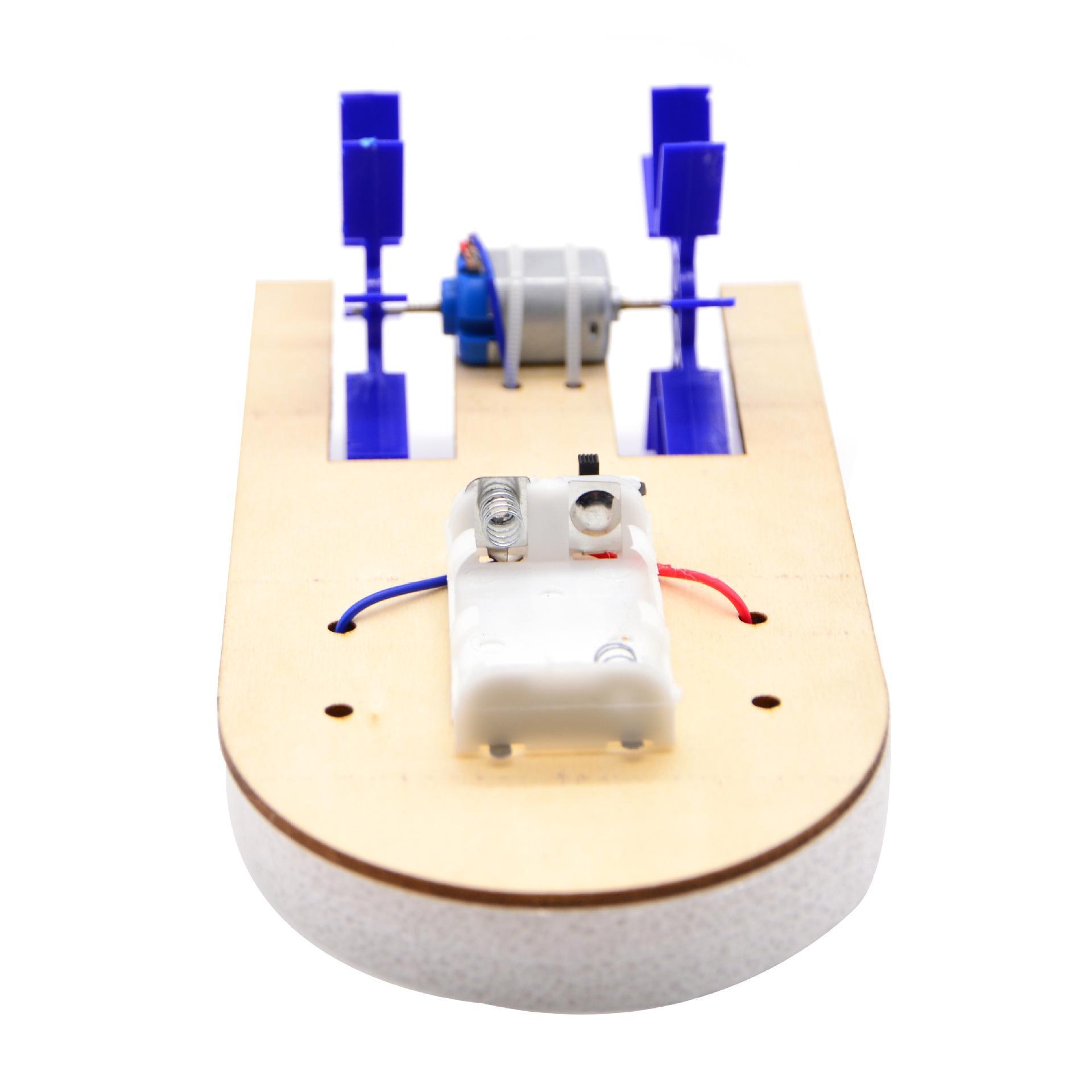 двойной затвор электрический скоростной катер шлюпки Minglun первичная и вторичная технология головоломки малый эксперимент по популярной науки модели корабля продукции