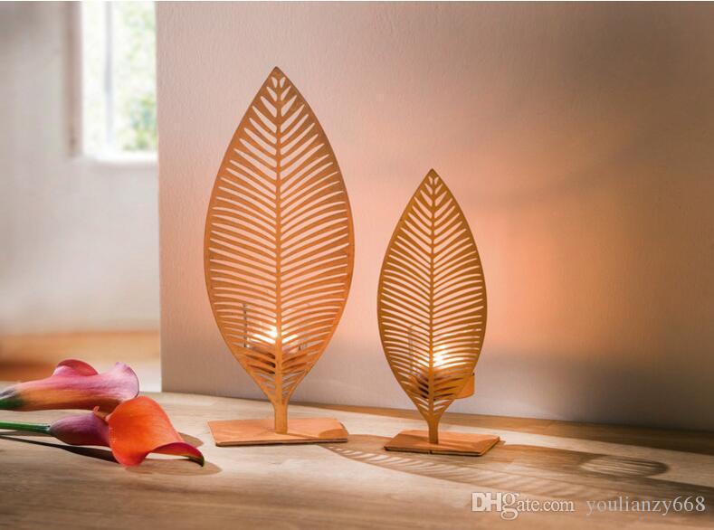 Сельская ржавчина сделано ветер железный лист образный подсвечник дом офис установить каждый, чтобы отправить 2 чашки и 2 свечи