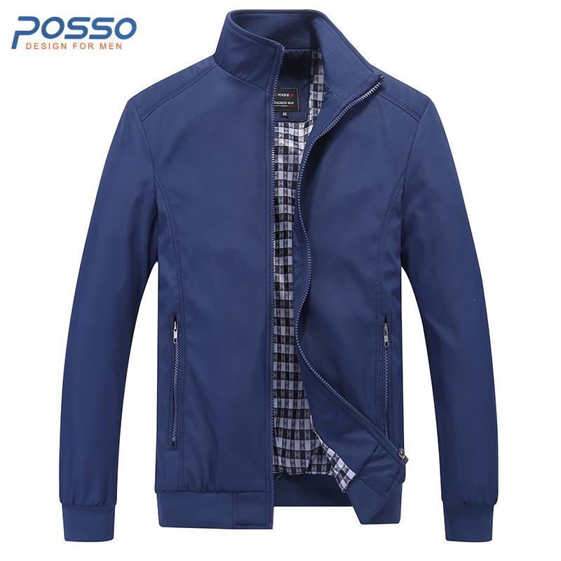 Осень синий бомбардировщик куртка мужчины тонкий зимняя куртка для мужчин водонепроницаемый осень повседневная плюс размер с длинным рукавом зимнее пальто