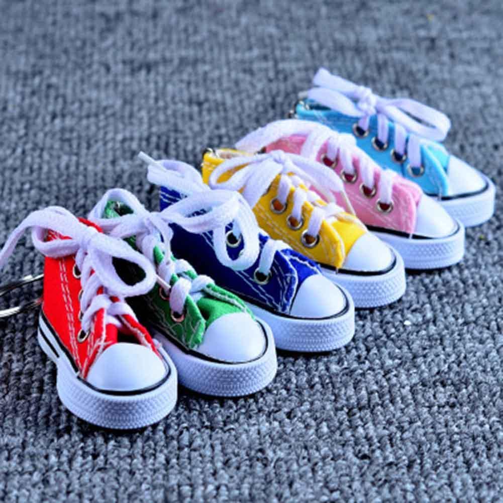 Mini Hi Top Sneaker Tênis Tênis Chaveiro Azul Rosa Preto Branco Esportes Sapatos Keyring Boneca Engraçado Presentes