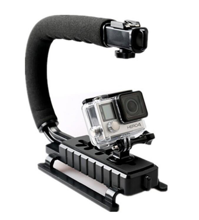 C Shape Flash Bracket holder Video Handheld Stabilizer for DSLR Camera Phone Sports action camera Mini DV Camcorder GoPro Hero 3 3+ 4