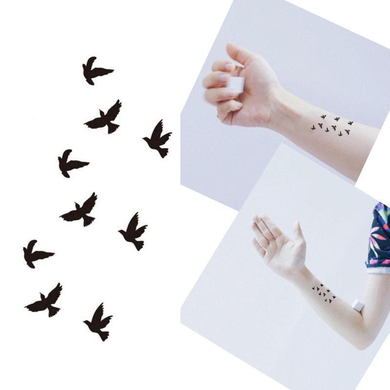 Großhandel Bittb Tattoo Black Bird Designs Wasserdicht Temporäre Tätowierung Aufkleber Körper Kunst Finger Arm Dekoration Gefälschte Paste Make Up Von