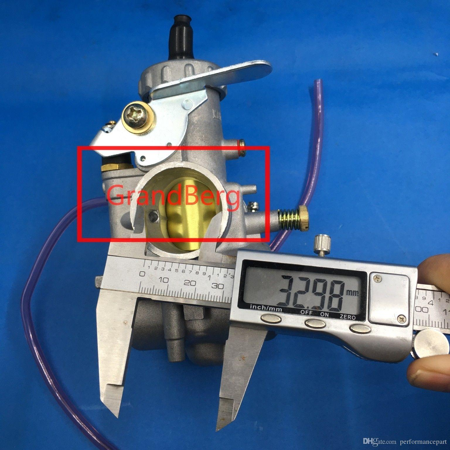 carburador (coppy Mikuni) VM33 rodada slide VM série carburador 33 mm carby para TR185