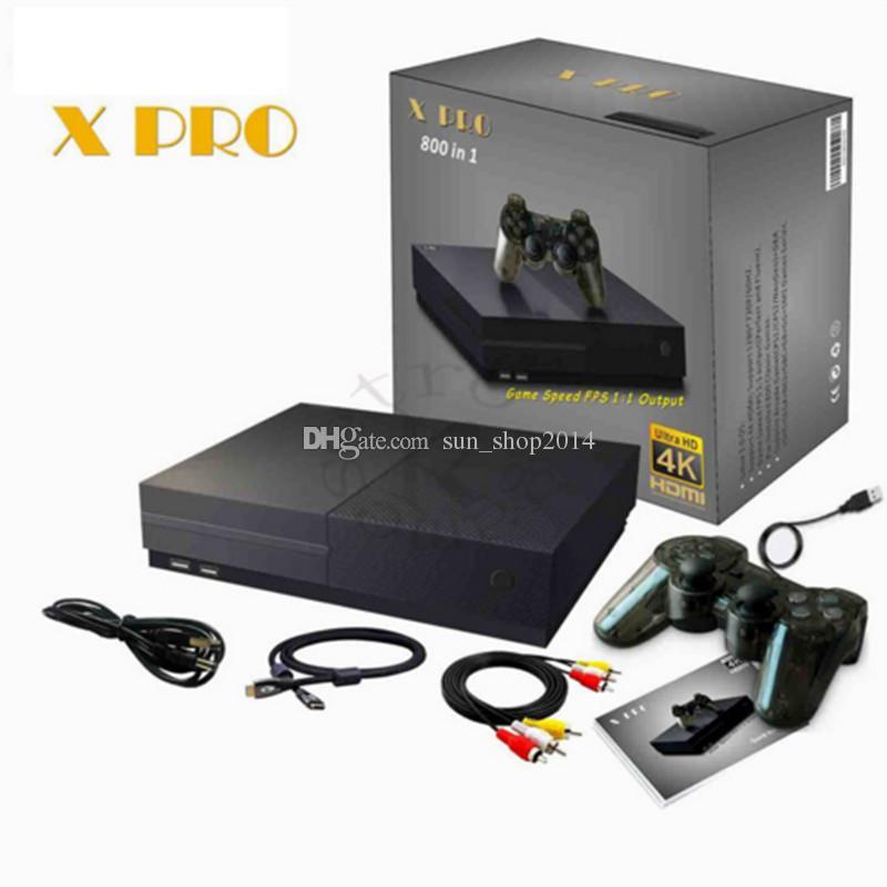 Console per videogiochi HD TV / video X PRO Supporto per console HDMl TV Out 800 Giochi Per GBA FC MD Giochi con scatola al minuto