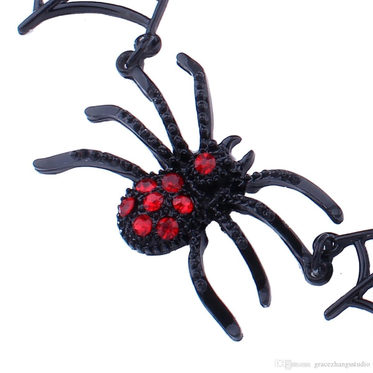 Collana RAGNO in plastica Halloween Fancy Dress accessorio 40 cm
