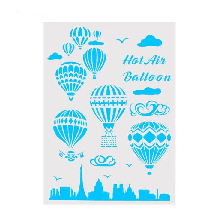 Großhandel Diy Handwerk Wohnkultur Heißluftballon Vorlage Wiederverwendbare Schichtung Handwerk Schablonen Für Wandmalerei Scrapbooking Briefmarken