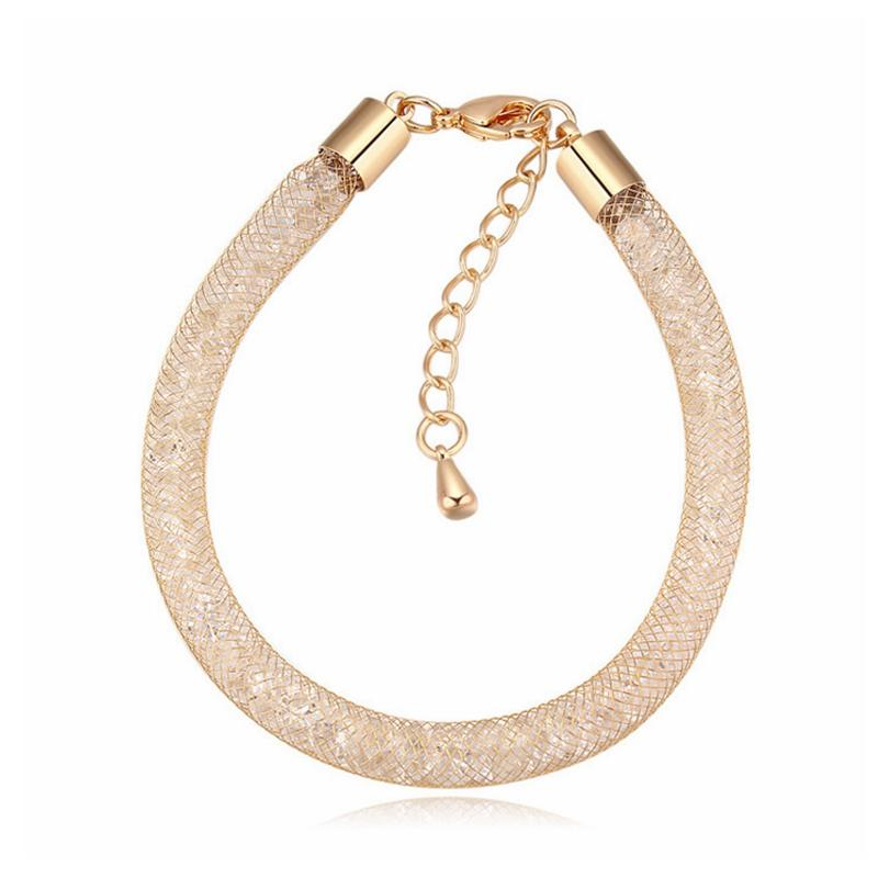 Hommes et femmes Blanc Or Couleurs Cristal Bracelets Bracelets Bijoux Quotidiens De Vacances Robe Accessoires