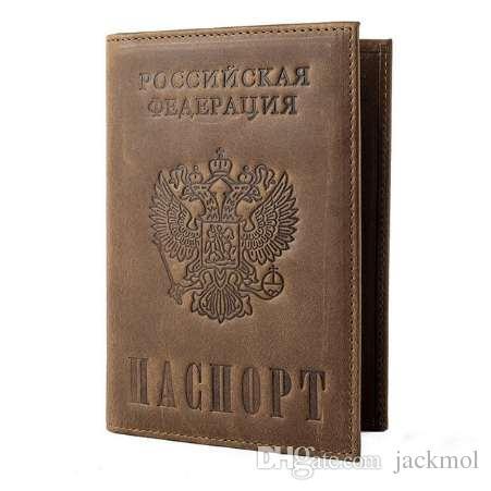 Vintage Crazy Horse en cuir détenteurs de passeport en cuir véritable couvre RFID voyage couverture de document titulaire de la carte de crédit 589