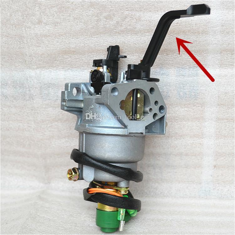 Karbüratör (B Stil) Honda GX340 EC5500 5KW Motor solenoid vana ile Manuel şok yedek parça