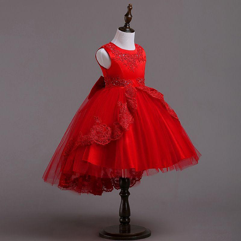 Compre Vestidos De Los Niños Para Las Muchachas De La Princesa Fiesta De Navidad De La Boda Del Vestido De La Muchacha Ropa 3 A 12 Años Adolescente