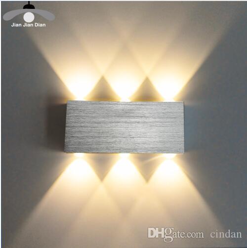 Led Wall Lamp 현대 Sconce 계단 전등 설비 거실 침실 침대 Bedside 실내 조명 Home Hallway Loft Silver