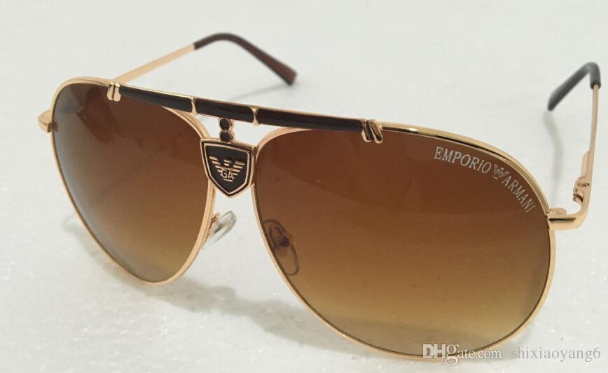 1Pcs Top Quality Designer Classic Pilot Sunglasses Eyewear Mens Womes Full Color Tortoise Leopard Brown Flash Glass Lens Cases